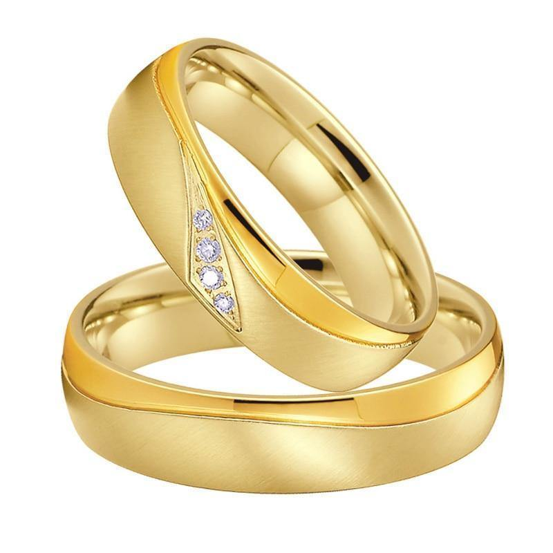 Wedding Rings For Men.Wedding Band Couple Rings Men Gold Color Anillos Anel Bague Bijoux Femme Alliance Jewelry Engagement Rings For Women