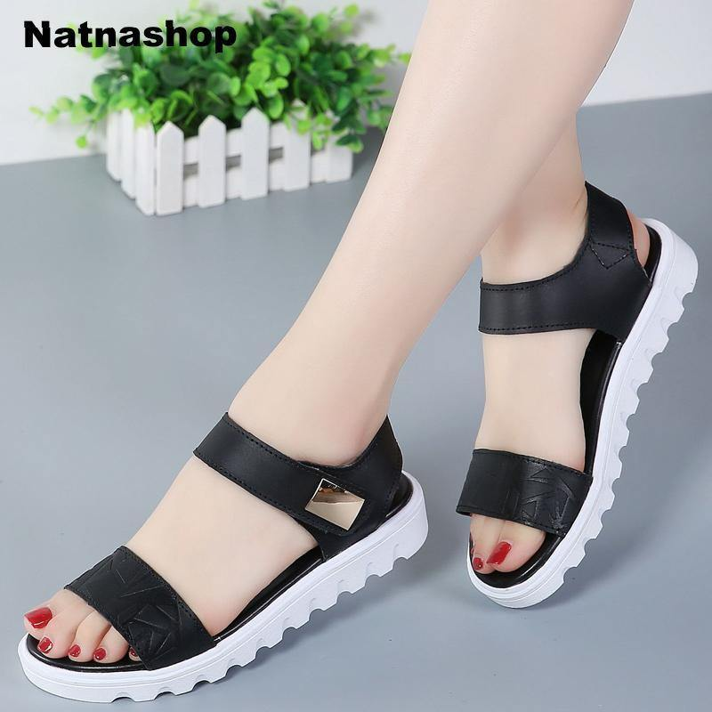 Genuine Leather Women sandals shoes