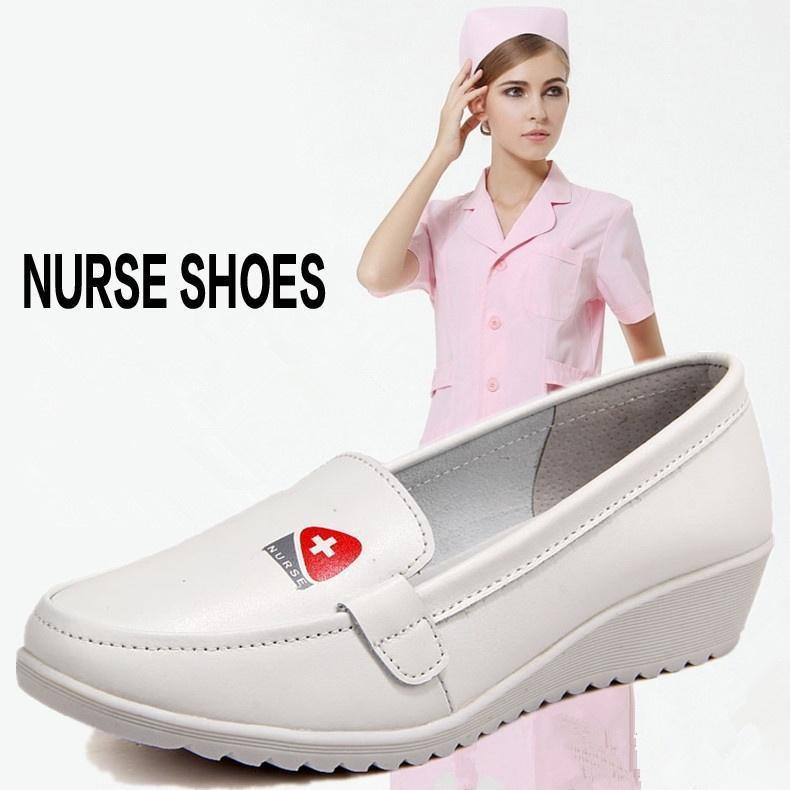 Leather Flats Non-slip Shoes Female