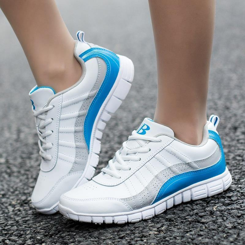 Women Running Shoes Lace Up Athletic