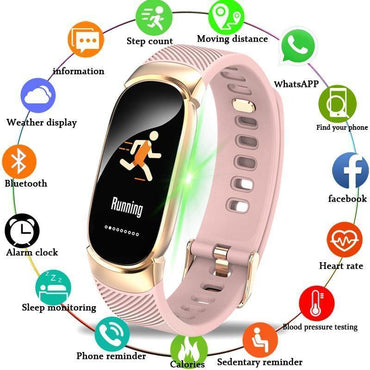 e0be0f2d1 Natna Shop watches black Women Sport Smart Watch Men LED Waterproof  SmartWatch Heart Rate Blood Pressure ...