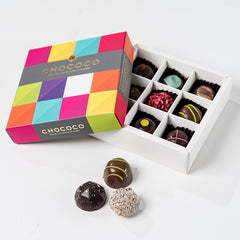 Photograph of a 9-piece Chococo selection box available at ChocoCake