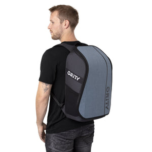 ORITY GO backpack on model