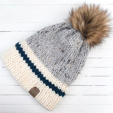 Load image into Gallery viewer, Blush/Blue Hiker Hat - Double Brim