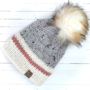 Blush/Blue Hiker Hat - Double Brim