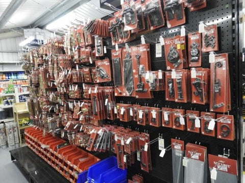 ironmongery aisle at engineering agencies