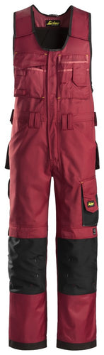 Snickers 0312 Craftsmen One-piece Trousers, DuraTwill Chilli Red