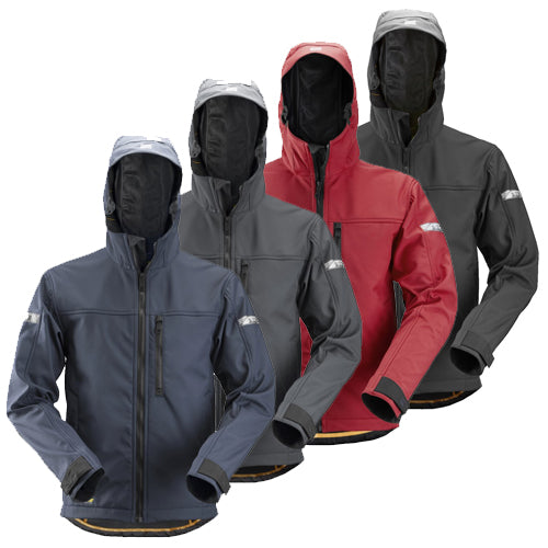 Snickers 1229 AllroundWork Softshell Jacket with Hood