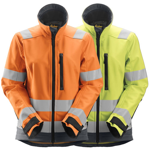 Snickers 1237 AllroundWork Womens High-Vis Softshell Jacket Class 2/3