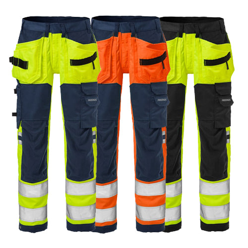 Fristads 125613 High Vis Craftsman Stretch Trousers Woman CL 2 2613 PLUS