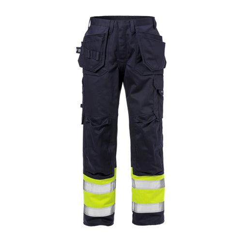 Fristads 125941 Flame High Vis Craftsman Trousers CL 1 2586 FLAM