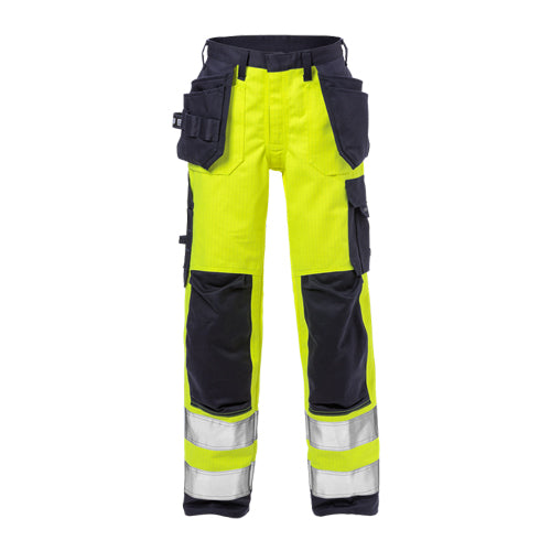 Fristads 125950 Flame High Vis Craftsman Trousers Woman CL 2 2589 FLAM