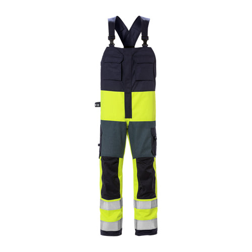 Fristads 126510 Flame High Vis BiB and Brace CL 2 1584 FLAM