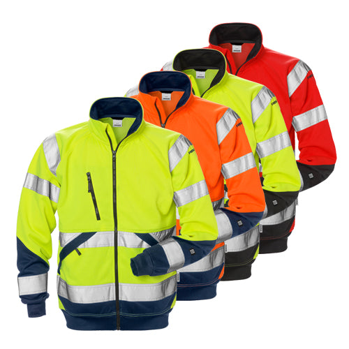 Fristads 126534 High Vis Sweat Jacket CL 3 7426 SHV
