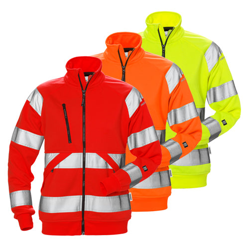 Fristads 126535 High Vis Sweat Jacket Woman CL 3 7427 SHV