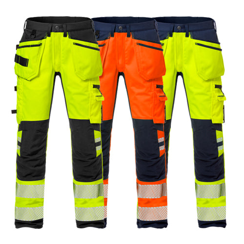 Fristads 127734 High Vis Craftsman Stretch Trousers CL 2 2707 PLU