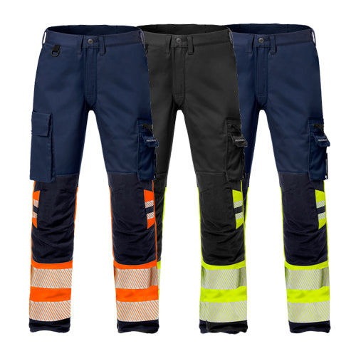Fristads 127735 High Vis Stretch Trousers Woman CL 1 2708 PLU