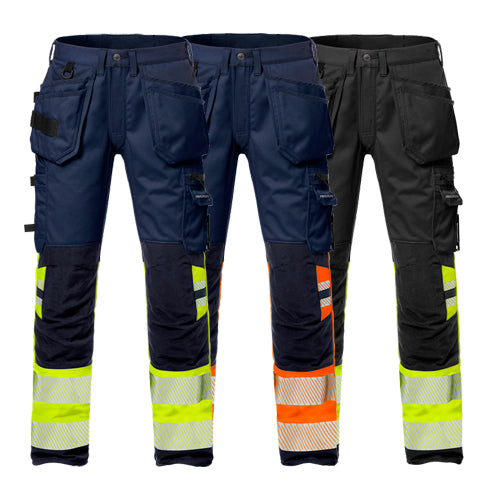 Fristads 127736 High Vis Craftsman Stretch Trousers Woman CL 1 2709 PLU