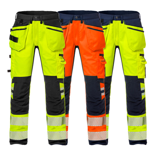 Fristads 127737 High Vis Craftsman Stretch Trousers Woman CL 2 2710 PLU