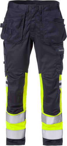 Fristads 129519 Flamestat High-Vis Stretch Craftsman Trousers Class 1 2163 ATHF