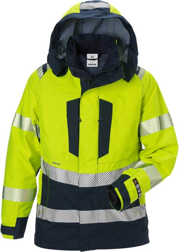 Fristads 129742 Flamestat High Vis Gore Pyrad® Shell Jacket Woman Class 3 4195 GXE