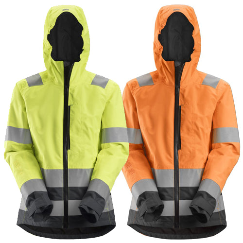 Snickers 1347 AllroundWork Womens High-Vis Waterproof Shell Jacket Class 2/3