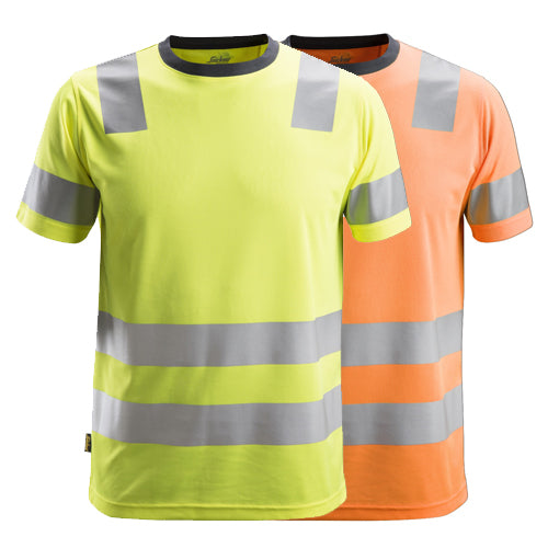 Snickers 2530 AllroundWork High-Vis T-Shirt CL 2