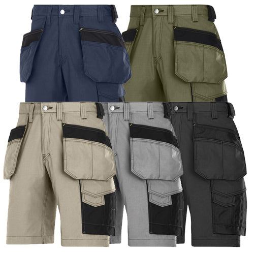 Snickers 3023 Craftsmen Shorts, Rip-Stop with Holster Pockets