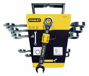 Stanley 4-89-907 Set of 6 Maxi Drive Plus Combination Ratchet Wrenches