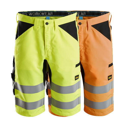 Snickers 6132 LiteWork High-Vis Shorts+ Class 1