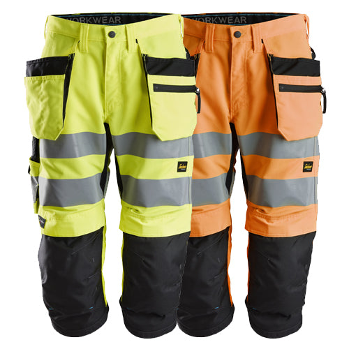 Snickers 6134 LiteWork High-Vis Pirates+ Holster Pockets Class 2