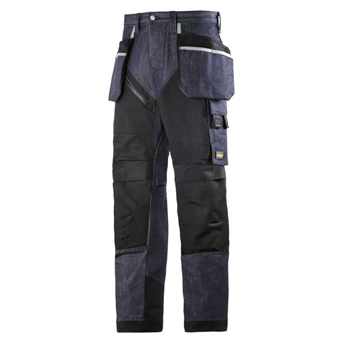 Snickers 6204 Ruff Work Denim Trousers+ with Holster Pockets