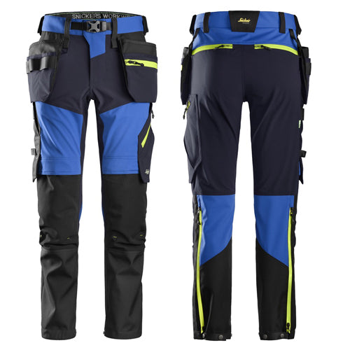 Snickers 6940 FlexiWork, Softshell Stretch Trousers+ Holster Pockets