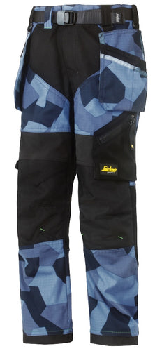 Snickers 7505 FlexiWork Junior Camo Trousers
