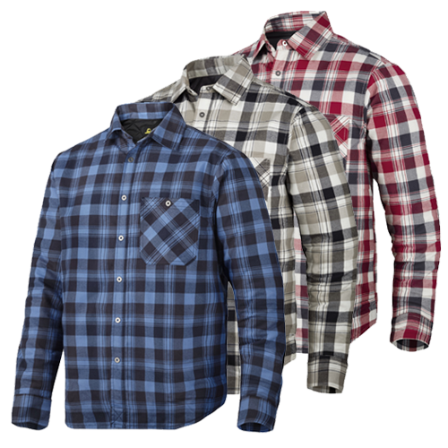 Snickers 8501 Ruff Work Padded Flannel Checked Shirt