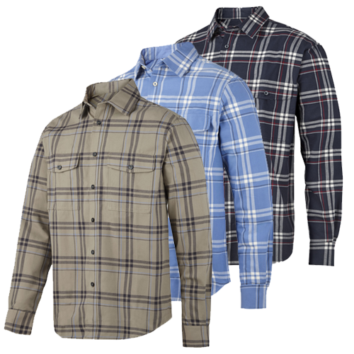 Snickers 8502 Ruff Work Flannel Checked Shirt