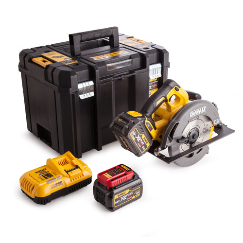 DeWalt DCS575T2 54V XR Flex Volt Circular Saw - 2 x 6.0 Ah Batteries and Fast Charger