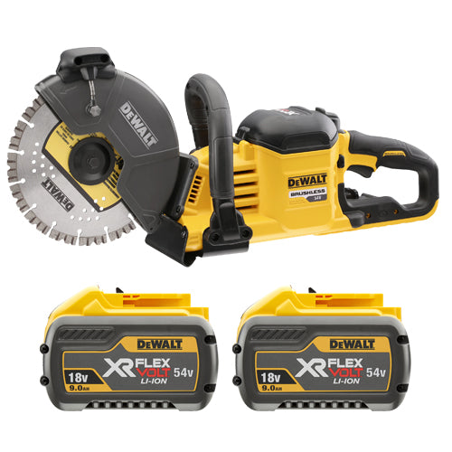DCS690X2 54v Flex Volt 230mm Cut Off Saw C/W 2 x 9.0Ahr Batteries