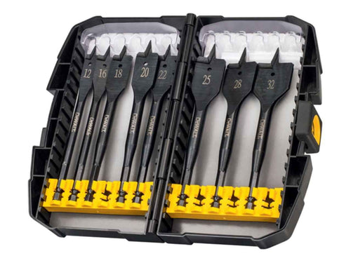 DeWalt DT7943B Extreme Flat Bit Tough Case Set 8pc