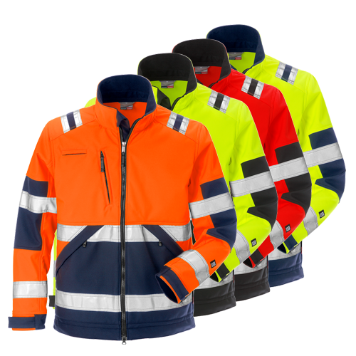 Fristads 125024 High Vis Soft Shell Jacket CL2 4083 WYH