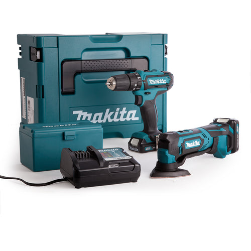 Makita CLX203AJX1 2 Piece Cordless Kit 10.8V CXT Li-ion - HP331 Combi Drill + TM30 Multi-Tool (2 x 2.0Ah Batteries)
