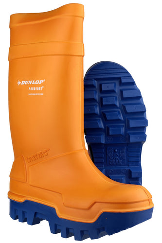 Dunlop Purofort Thermo Plus C662343 Orange Safety Wellington Boot