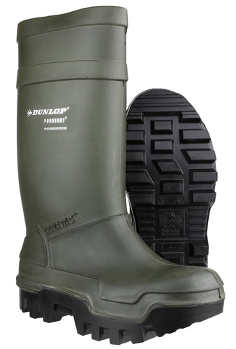 Dunlop Purofort Thermo Plus C662933 Green Safety Wellington Boot