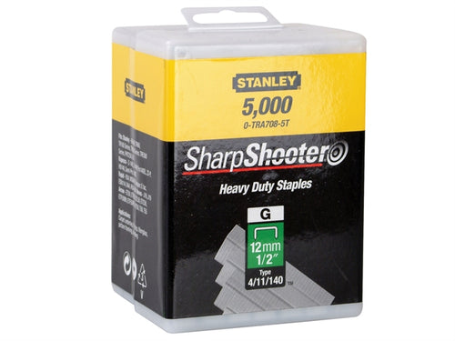 Stanley 1-TRA708T-5T Heavy Duty Staple Pack 12mm x 5000