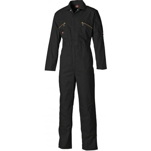 Dickies WD4839 Redhawk Zip Front Coverall - Black