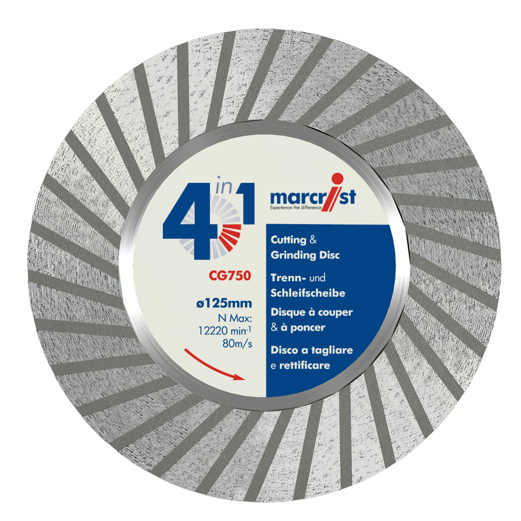Marcrist CG750 125mm x M14 Cut & Grind Diamond Blade