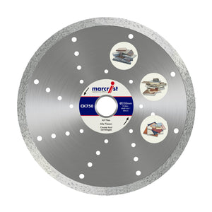 Marcrist CK750 115mm x 22.2 Fast Tile Diamond Blade