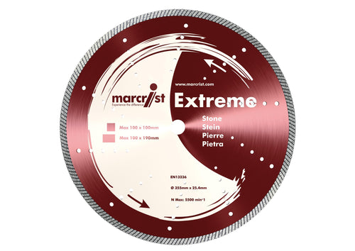 Marcrist Extreme 355 355mm x 25.4mm Stone Cutting Blade