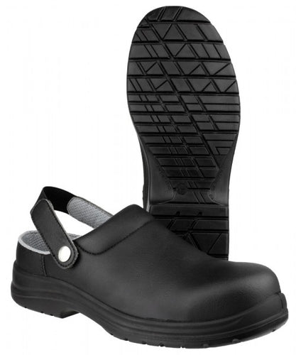 Amblers Safety FS514 Black Safety Clog