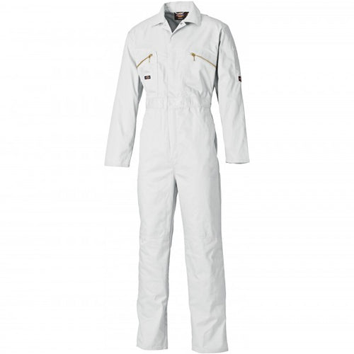 Dickies WD4839 Redhawk Zip Front Coverall - White